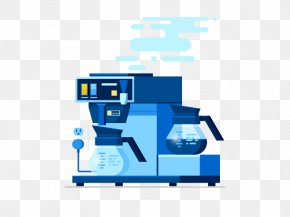 Hand-painted Coffee Machine - User Experience User Interface Design Illustration PNG