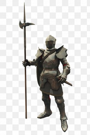 Armored Warrior - Middle Ages Knight Warrior Stock Illustration PNG