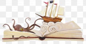 Vector Hand-painted Open Book - Book Cover Reading Book Series Book Design PNG