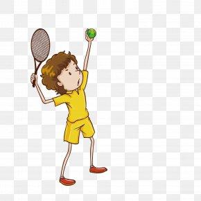 Vector Cartoon Villain Playing Tennis Illustrator - Play Royalty-free Clip Art PNG