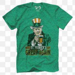 United States - United States Saint Patrick's Day T-shirt Crippled America Clothing PNG