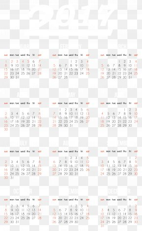 2017 Transparent Calendar Clipart Image - Calendar Font Design Pattern PNG