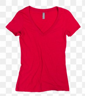 Printed T Shirt Red - T-shirt Top Clothing Polo Shirt Neckline PNG