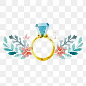 Ring - Wedding Invitation Engagement Watercolor Painting Ring PNG