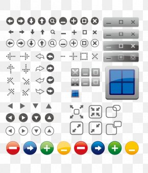 Window Icon Button Vector Elements - Window Button Icon PNG