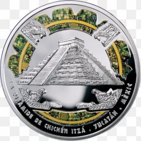 Chichen Itza - Silver Coin Great Wall Of China El Castillo, Chichen Itza Wonders Of The World PNG