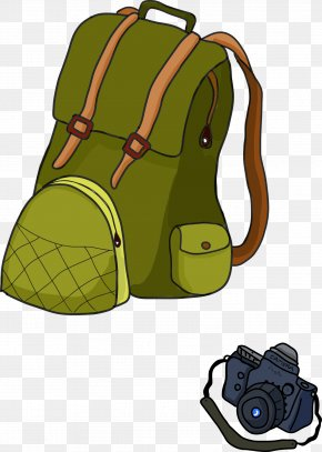 Camping Backpack - Backpacking Hiking Clip Art PNG