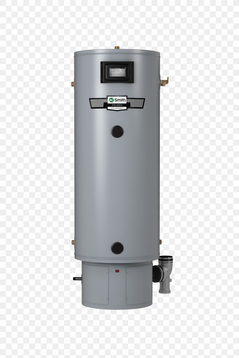 Water Heating A. O. Smith Water Products Company Electric Heating Natural Gas Hot Water Storage Tank, PNG, 2000x3000px, Water Heating, British Thermal Unit, Cylinder, Efficiency, Electric Heating Download Free