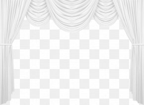 Curtains - Black And White Product Pattern PNG