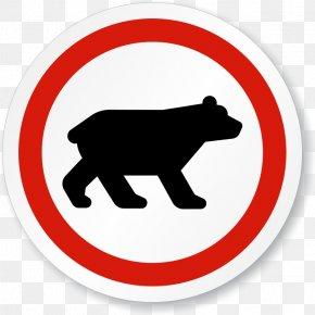Bear No Buckle Diagram - Brown Bear Traffic Sign Polar Bear PNG