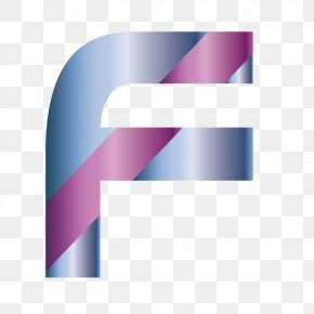 Creative Font F - Purple Pattern PNG