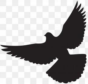 Dove Silhouette Clip Art - Bird Wing Bat Flight Lift PNG