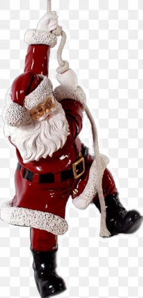 Santa Claus - Santa Claus Candy Cane Christmas Ornament Christmas Decoration PNG