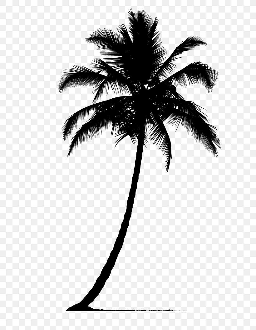 Arecaceae Silhouette Tree, PNG, 686x1054px, Arecaceae, Arecales, Black And White, Borassus Flabellifer, Coconut Download Free