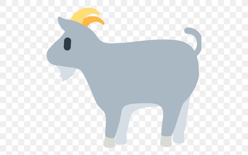 Emoji Goat Sheep SMS Clip Art, PNG, 512x512px, Emoji, Animal, Animal Figure, Cattle, Cattle Like Mammal Download Free