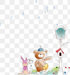 Cartoon Illustration Bear - Cartoon Illustration PNG