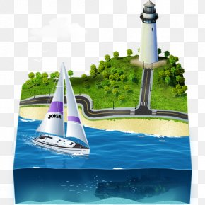 Sailing Ship - Lighthouse Yacht Water Transportation Water Resources PNG