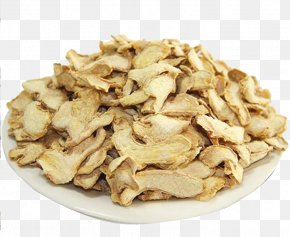 White Plate Piece Of Ginger - Ginger Ale Indian Cuisine Dried Fruit Food Drying PNG