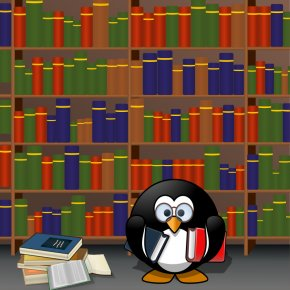 Library Card Cliparts - Penguin Demmer Memorial Library Clip Art PNG