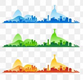 Rio City Silhouette - Rio De Janeiro 2016 Summer Olympics Silhouette PNG