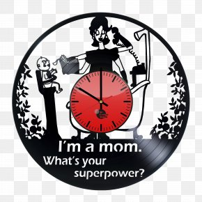 Mother's Day Gift - Mother's Day Clock Laser Cutting PNG