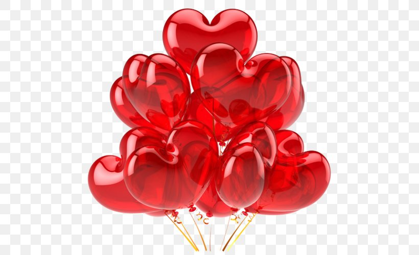 Balloon Heart Stock Photography Clip Art, PNG, 500x500px, Balloon, Birthday, Cut Flowers, Flower, Garden Roses Download Free