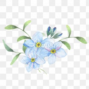 Blue Watercolor Flowers - Flower Watercolor Painting Stock Photography PNG