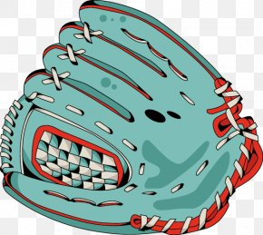 Painted Green Baseball Glove Pattern - Baseball Glove Helmet Clip Art PNG