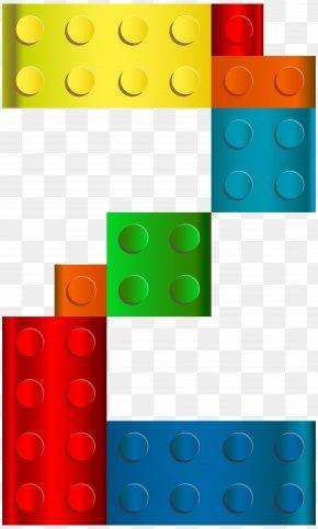 Lego Number Two Transparent Clip Art Image - LEGO Clip Art PNG