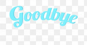 Goodbye Text - Logo Brand Blue Font PNG