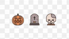 Vector Pumpkin Head And Skull Grave - Pumpkin Pie Adobe Illustrator Tutorial PNG