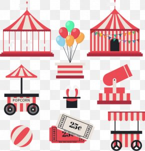 Amusement Park Facilities Vector Material - Amusement Park Ferris Wheel Gratis PNG