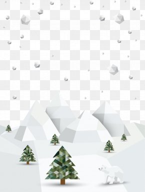 Creative Winter Snow Posters Vector Material - Poster Winter Snow PNG