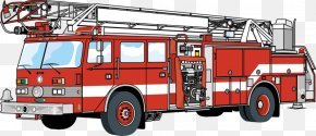 Hand-drawn Fire Engine - Car Fire Engine Firefighter Truck Motor Vehicle PNG