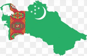 Map - Flag Of Turkmenistan Turkmen Soviet Socialist Republic Map PNG