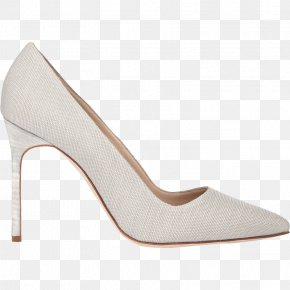 Manolo Brand White High Heels Brand Shoes - Shoe High-heeled Footwear Brand PNG