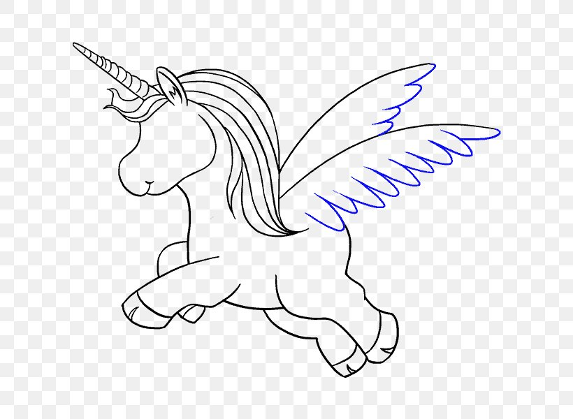 Line Art Drawing Unicorn, PNG, 678x600px, Watercolor, Cartoon, Flower, Frame, Heart Download Free