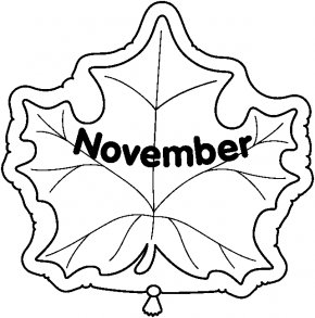 November Cliparts - November Black And White Clip Art PNG