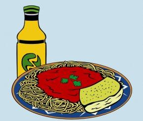 Pictures Of Spaghetti And Meatballs - Hamburger Pasta Spaghetti With Meatballs Garlic Bread Marinara Sauce PNG