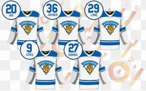 T-shirt - T-shirt Finland Men's National Ice Hockey Team Logo Outerwear PNG