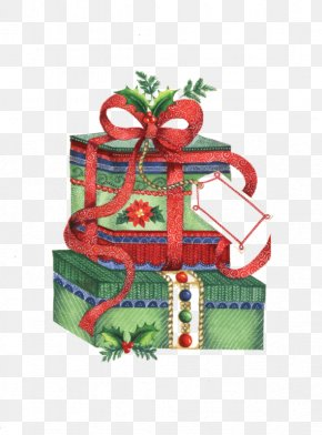 Green Gift Box - Christmas Ornament Christmas Gift Santa Claus PNG