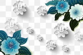 3D Three-dimensional Flowers Background - Moutan Peony Download Flower Template PNG