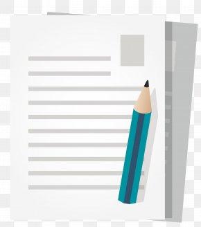 Vector Pen And Paper - Paper Pencil PNG