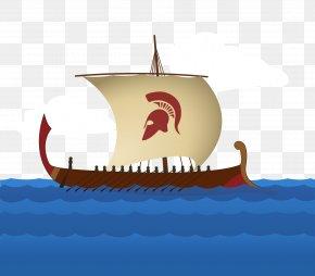 Ship Sailing Vector Material - Viking Ships Sailboat Illustration PNG