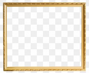 Gold Pattern Frame - Picture Frame Stock Photography PNG