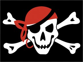 Funny Pirates Cliparts - Jolly Roger Piracy Flag Skull And Crossbones Clip Art PNG