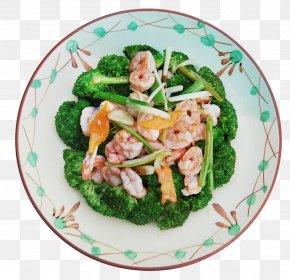 Broccoli Shrimp - Vegetarian Cuisine Asian Cuisine Broccoli Recipe Stir Frying PNG