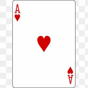 Ace Of Hearts Playing Card Card Game Stock Photography PNG