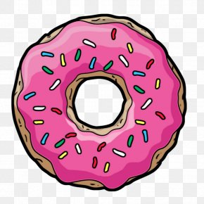 Donuts - Donuts Homer Simpson Sprinkles Clip Art PNG