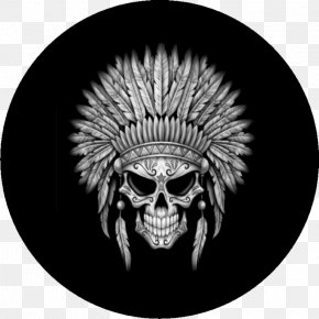 Jeep Skull - Native Americans In The United States War Bonnet Indigenous Peoples Of The Americas Skull Calavera PNG